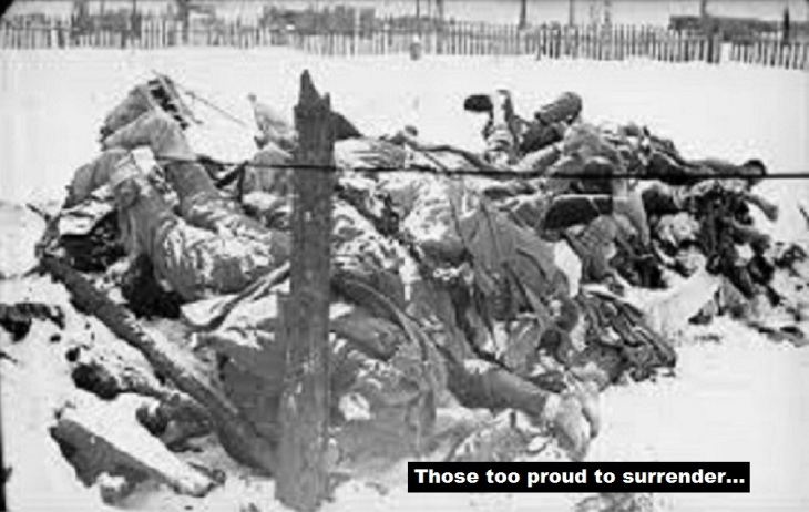 Frozen German Soldiers too proud to surrender