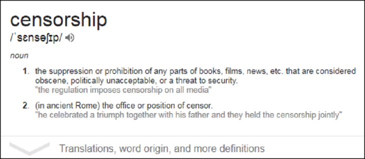 ADDO Censorship meaning