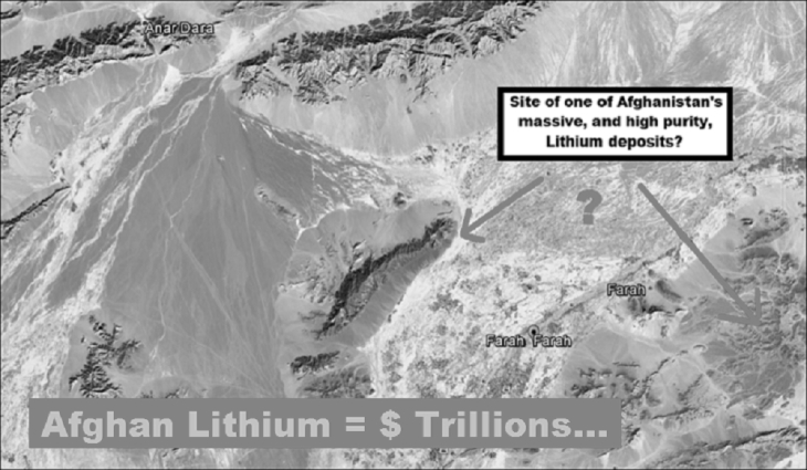 Afghan Lithium trillions black and white