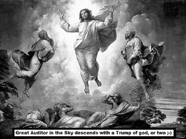 Great auditor in the sky black and white (2)