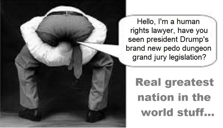 Head up ass, Drump's pedo grand jury legislation.png