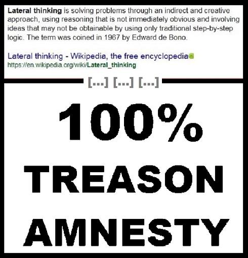 Lateral thinking treason amnesty no logo 490