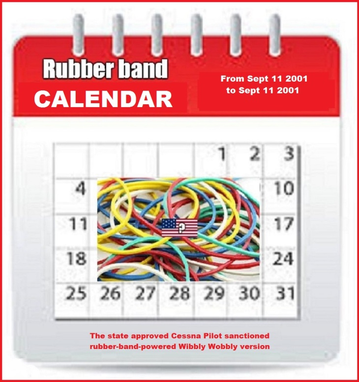 Amnerican rubber band wibbly wobbly calendar