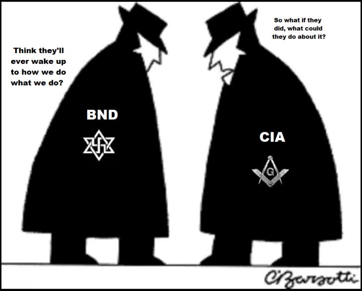 Spy Vs Spy black and white ~ BND CIA