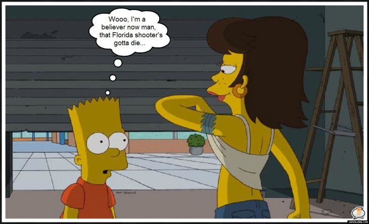 Bart and titties ~ Florida shooter