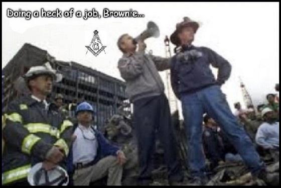 Doin' a heck of a job, Brownie Bush 911 Mason 560