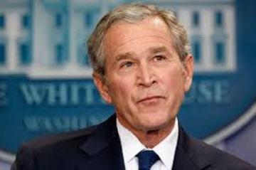 GW Bush smiling