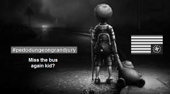 Pedo dungeon American Nazi flag ~ Miss the bus 560