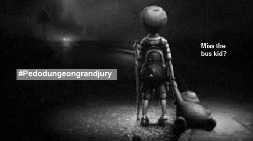 pedo-dungeon-grand-jury-hashtag ~ Miss the bus kid