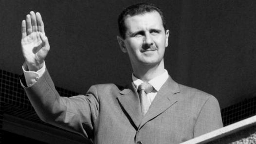 Assad salute BW