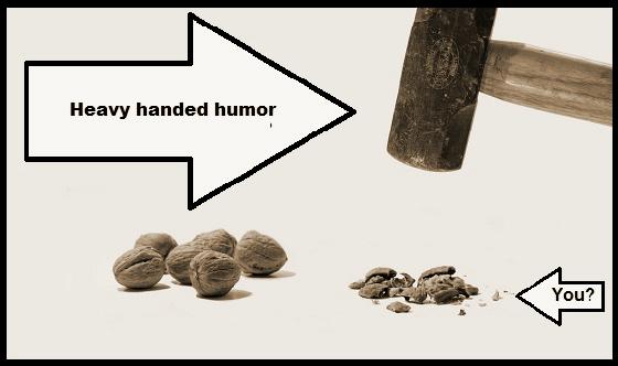 Heavy handed humor hammer walnut Sepia 560