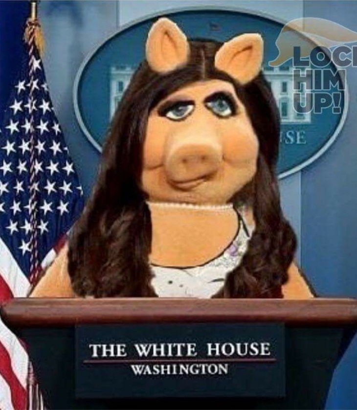 Miss Piggy Press Secretary at the WH Press Corp