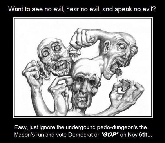 Pedo-dungeon see-no-evil-hear-no-evil-speak-no-evil