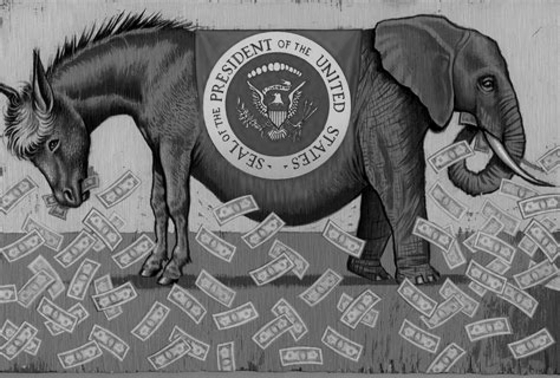 democrat-donkey-republican-elephant BW 560