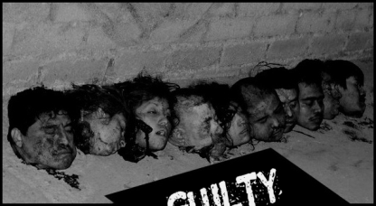 HEADS BLANK BLACK SIGN GUILTY