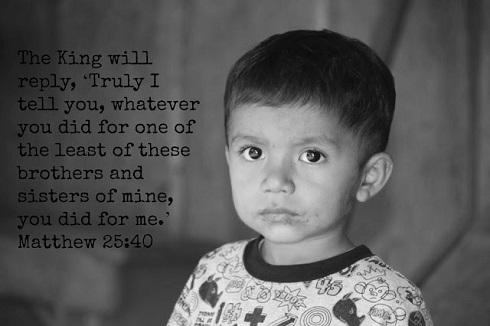Mathew 25 40 child BW 490