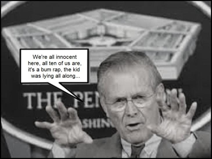 Rumsfeld bum rap