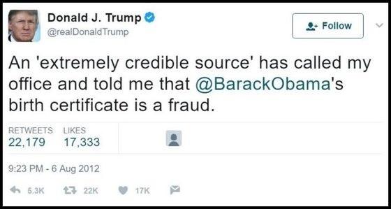 Trump Tweet Obama
