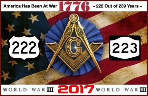 Masonic crest at war 222 years 490