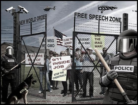 New World Order free speech zone Cessna 560