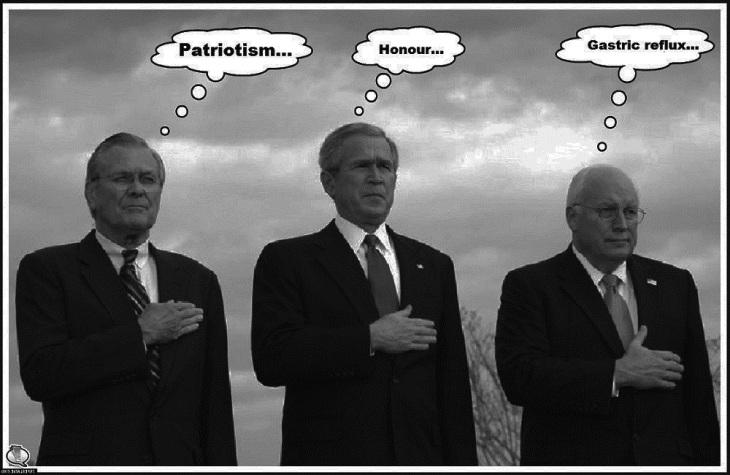 Rumsfeld Bush Cheney darker heartburn 1000