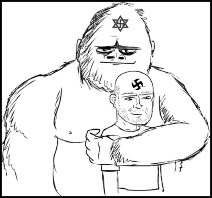 Nazi ape and best friend 800