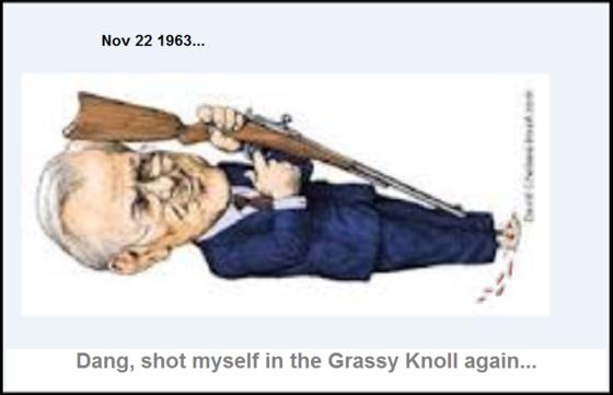 Rummy ~ Rumsfeld ~ Dang, shot myself in the Grassy Knoll again 560