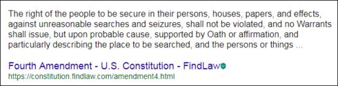 4th Amendment 490