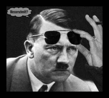 Adolf Hitler Messerschmitt 600 THINKER BORDER