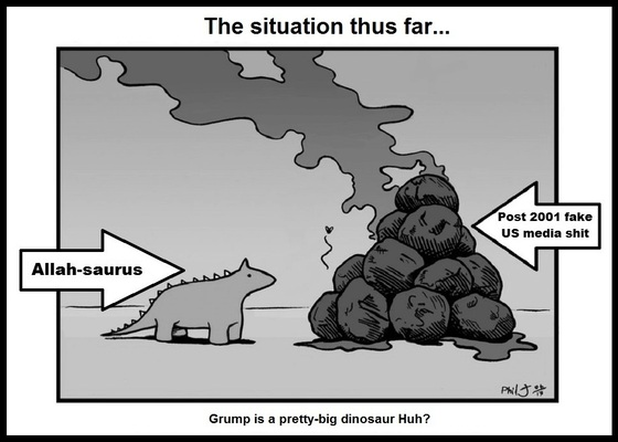 Allah Saurus Grump dinosaur 560