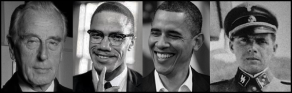 Mountbatten Malcolm X Obama Mengele 600