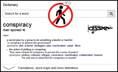 Dictionary meaning of conspiracy RED BAN Cessna