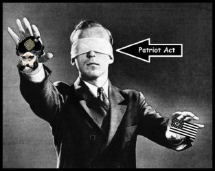 Patriot Act American Nazi flag + Islam bomber