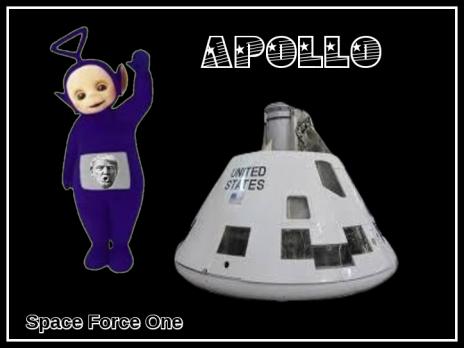 apollo space force one teletubby