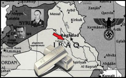 iraq gold assad lower color large red arrow fallujah