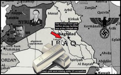 iraq gold assad lower color red arrow gold storage facilities fallujah large