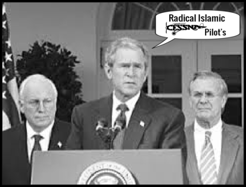 cheney-bush-w-rumsfeld radical Islamic Cessna Pilot's