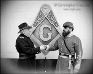 Civil War Masons black and white 490
