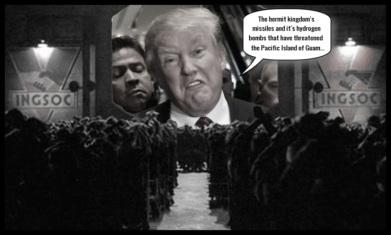Trump Orwell the hermit kingdom