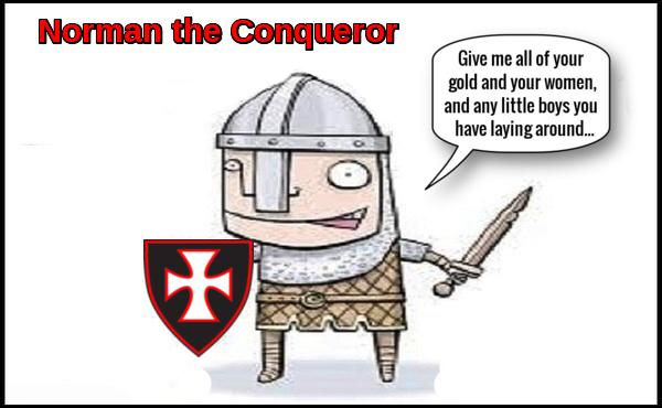 Norman the Conqueror gold women little boys 600