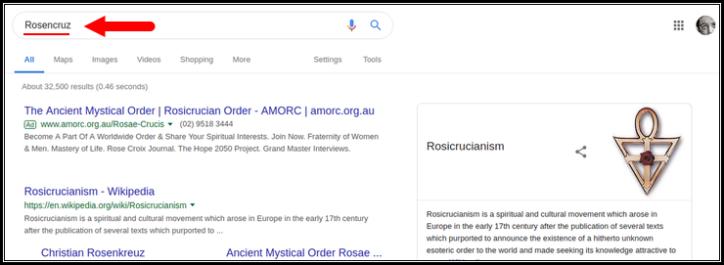Rosencruz Google