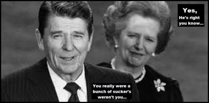 Reagan Thatcher suckers