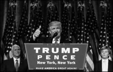Trump Pence make America great again BW (2)