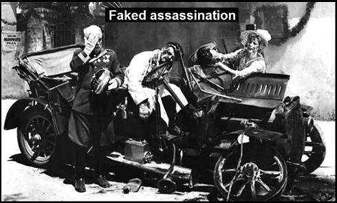 AAA Archduke Ferdinand shot FAKED ASSASSINATION 490