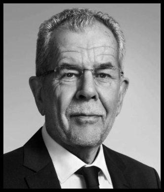 Austrian Federal President Van Der Bellen THICKER BORDER BW