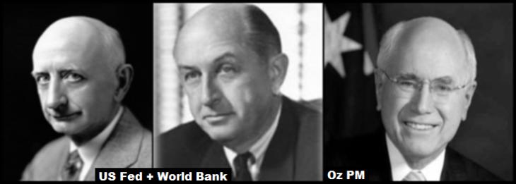 Eugene Black Sebior Junior and PM John Howard US Fed World Bank