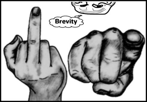 Finger Grin Guy BREVITY 490