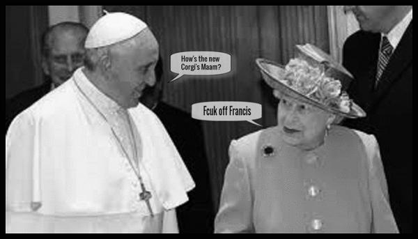 Francis and fake Queen Corgi's BW 600