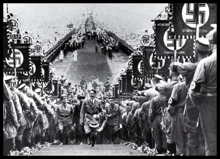 Hitler rally Nuremberg THICKER BORDER