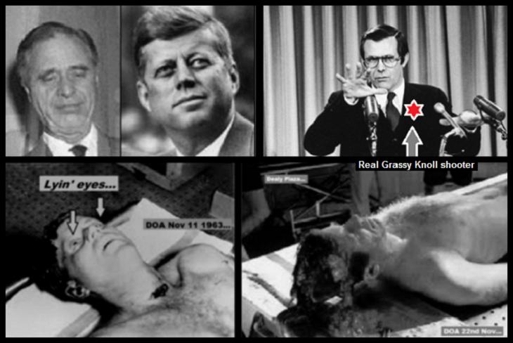 Prescott Rumsfeld and fake Kennedy's real Grassy Knoll guy 730